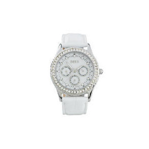 Photo of Oasis White Strap Diamonte Set Watch Watches Woman