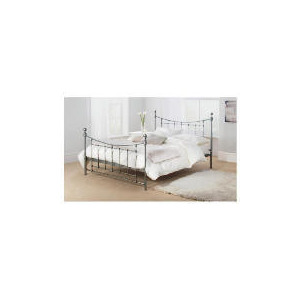 Photo of Bordeaux King Bed Frame, Antique Silver Finish Bedding