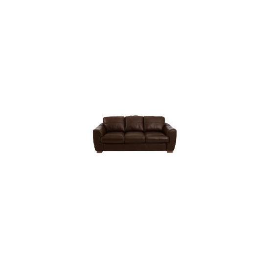 Milano large Leather Sofa, Chocolate