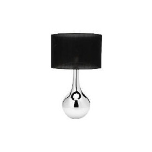 Photo of Tesco 5* Hotel Chrome Ball Table Lamp Lighting