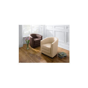 Photo of Miami Leather Tub Chair, Ivory Furniture