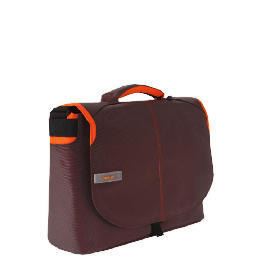 "Techair brown/ orange 15.6"" messenger bag Reviews"