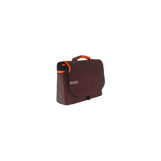 "Techair brown/ orange 15.6"" messenger bag"