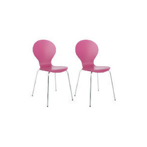 Photo of Pair Of Bistro Chairs, Raspberry Furniture