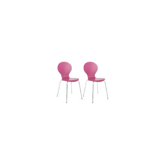 Pair of Bistro Chairs, Raspberry