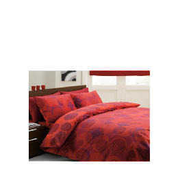 Tesco Swirls Print Duvet Set Double, Red Reviews