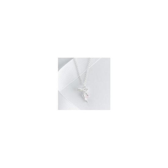 Sterling Silver Rose Quartz Fairy Pendant