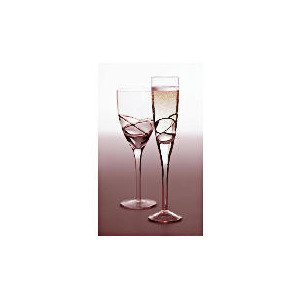 Photo of Tesco Drizzle Champagne Flute Black, 4 Pack Dinnerware
