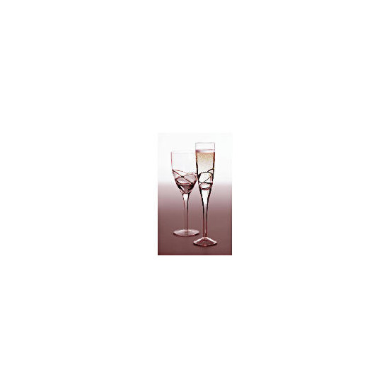 Tesco Drizzle Champagne Flute Black, 4 Pack