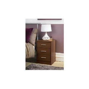 Photo of Compton 3 Drawer Bedside Chest Dark Walnut Furniture
