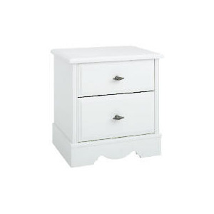 Photo of Dorset 2 Drawer Bedside Chest White Furniture