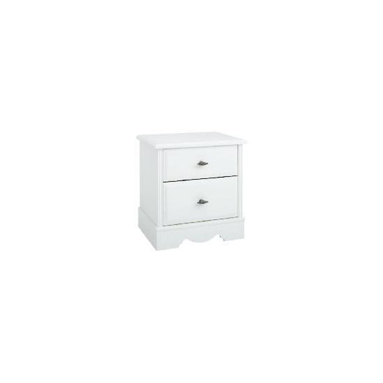 Dorset 2 Drawer Bedside Chest White