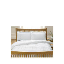 Tesco Sycamore Embroidered Duvet Set Double, White Reviews
