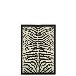 Tesco Zebra Print Rug 115x160cm Black Reviews