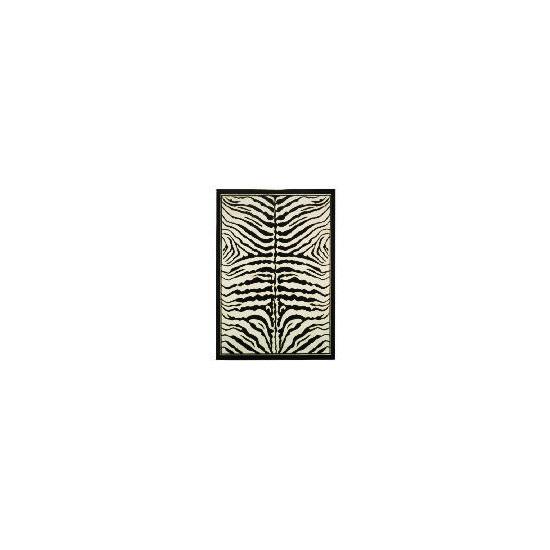 Tesco Zebra Print Rug 115x160cm Black