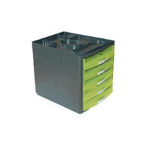 Photo of Multi 5 Drawer Desktop Open Lime Toy
