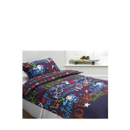 Tesco Kids Black Graffiti Duvet Reviews