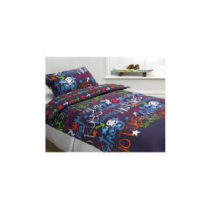 Photo of Tesco Kids Black Graffiti Duvet Bed Linen