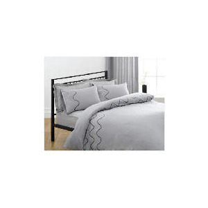Photo of Tesco Ripples Embroidered Duvet Set Single, Charcoal Bedding