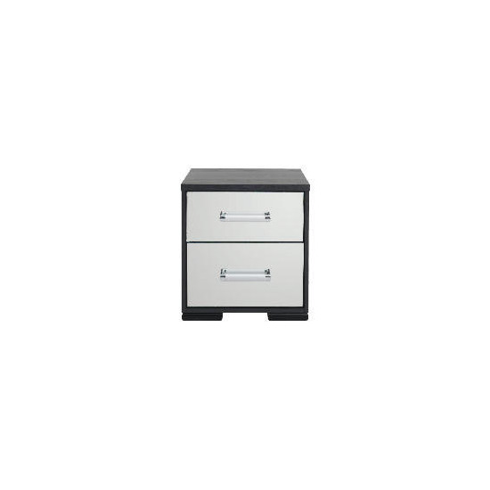 Sophia 2 Drawer Bedside Chest Mirrored