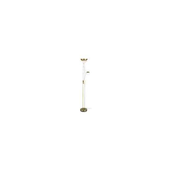 Tesco Mother And Child Floor Lamp, Antique Brass