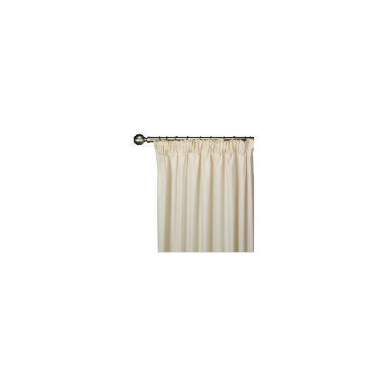 Tesco Plain Canvas Unlined Pencil Pleat Curtain 168x137cm, Natural