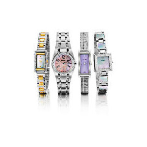 Photo of PULSAR LADIES SILVER SQUARE MOP SET WATCH Jewellery Woman