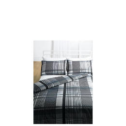 Tesco Check Print Duvet Set Double, Grey Reviews