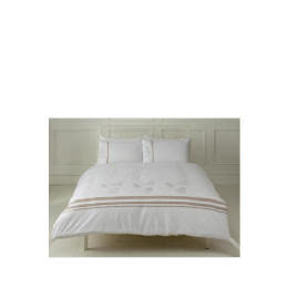 Tesco Fern Embroidered Duvet Set Kingsize, White Reviews