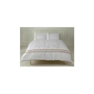 Photo of Tesco Fern Embroidered Duvet Set Kingsize, White Bedding