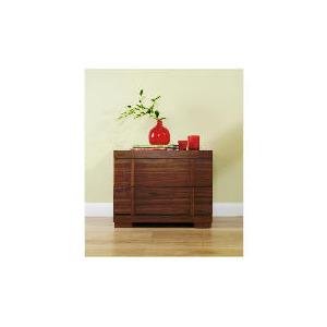 Photo of Brandon 2 Drawer Bedside Chest, Walnut Effect Furniture
