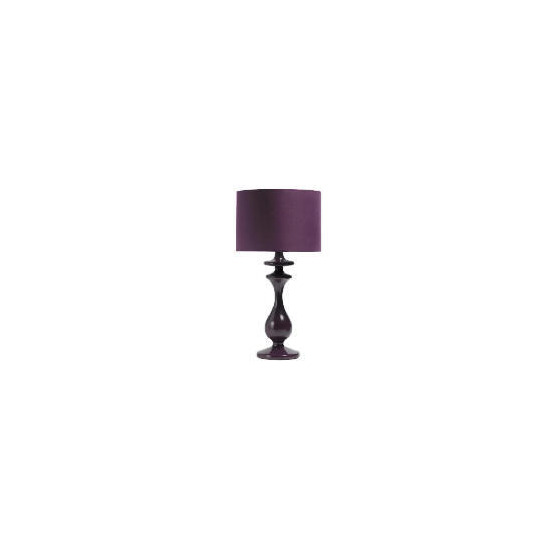 Tesco Spindle Table Lamp, Plum