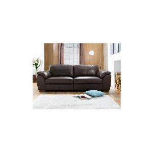 Photo of Darwin Large Leather Sofa, Chocolate Furniture