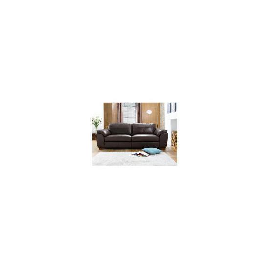 Darwin large Leather Sofa, Chocolate