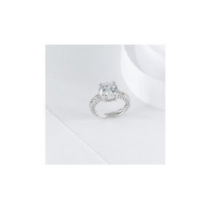 Photo of PAVE CUBIC ZIRCONIA COCKTAIL RING, SMALL Jewellery Woman