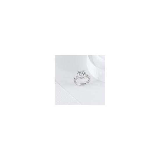 PAVE CUBIC ZIRCONIA COCKTAIL RING, SMALL