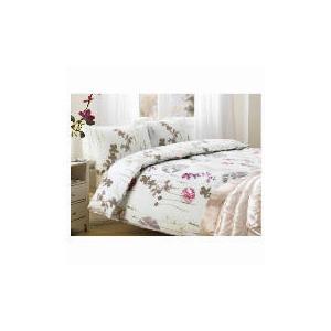 Photo of Tesco Watercolour Poppy Print Duvet Set King, Ivory Bed Linen