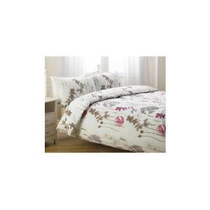 Photo of Tesco Watercolour Poppy Print Duvet Set Double, Ivory Bed Linen