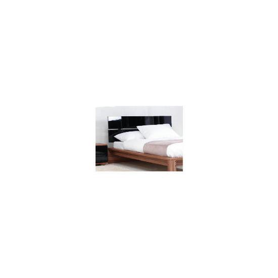 Ferrara Dbl Bed Frame, Black & Walnut