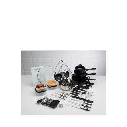 50pc Steel & Non Stick Kitchen Starter Set Reviews