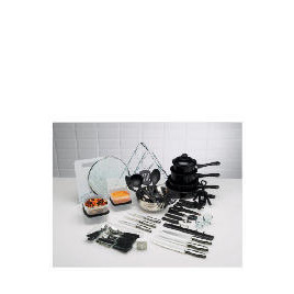 50pc Steel & Non Stick Kitchen Starter Set Reviews