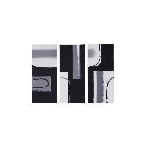Photo of Abstract Mono Hand Painted Canvas Set Of 3, 70X90CM Home Miscellaneou