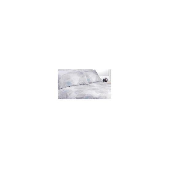 Tesco Dandelion Print Duvet Set Kingsize, Winter White
