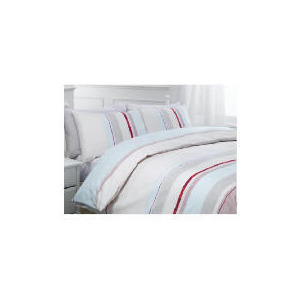 Photo of Tesco Kieran Stripe Print Duvet Set Kingsize, Pastel Bed Linen