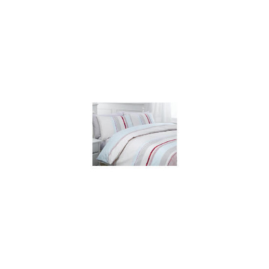 Tesco Kieran Stripe Print Duvet Set Kingsize, Pastel