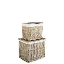 Rustic Chunky Willow Set Of 2 Lidded Reviews