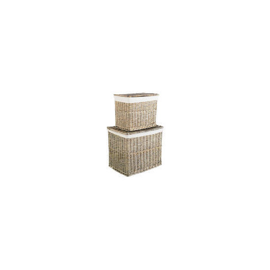 Rustic Chunky Willow Set Of 2 Lidded