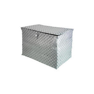 Photo of Silver Woven Large Lidded Box Household Storage