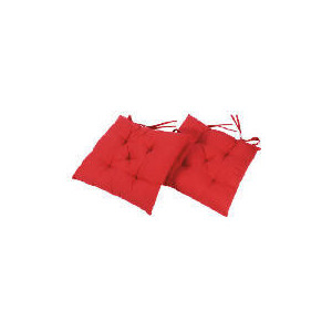 Photo of Tesco Seat Pads 2PK Red Home Miscellaneou