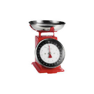 Photo of Tesco Enamel Weigh Scale Red 5KG Kitchen Appliance
